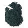 Seedbead Opaque Dark Green 10/0 Strung